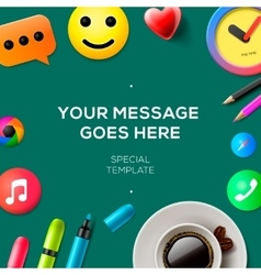 Blog concept template vector image