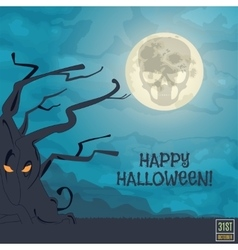 Happy Halloween Banner vector image