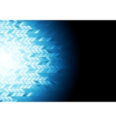 Hi-tech geometric dark blue background vector image vector image