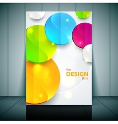 Professional business flyer template or corporate vector image