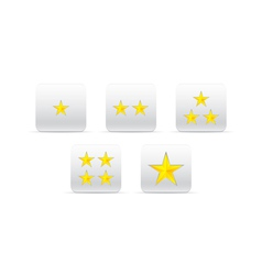 stars for ranking vector image