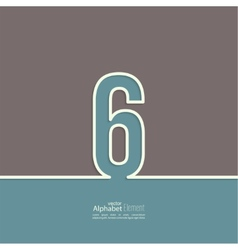 The number abstract background vector image vector image