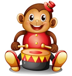 A musical monkey toy vector image