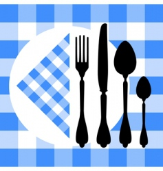 cutlery silhouette vector image vector image