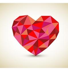 retro heart vector image vector image