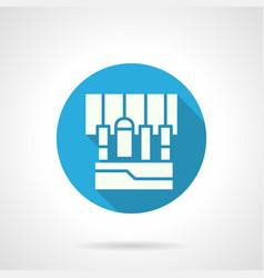 sound equipment blue round icon vector image
