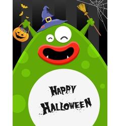 Big Halloween Monster vector image vector image