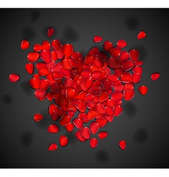 Heart of rose petals vector image vector image