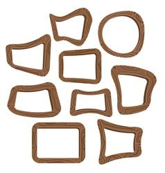 set wooden frames vector image
