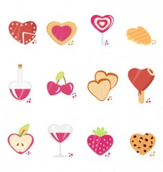 sweets with love concept vector image