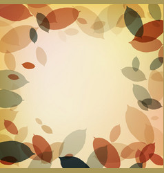 warm background with brown leaves vector image vector image
