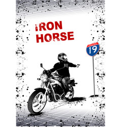 Gray background with motorcycle image vector