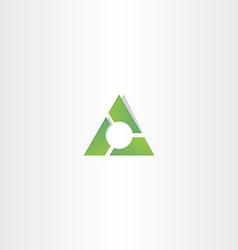 green triangle gradient logo design element vector image vector image