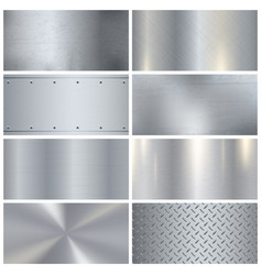 Metal texture realistic 3d samples collection vector