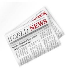 Newspaper World news Regional newspapers news vector image