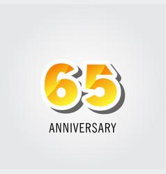 65 years anniversary celebration logo template vector
