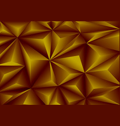 abstract gold triangle polygon pattern background vector image