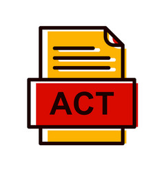 Act file document icon vector