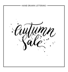 Autumn sale text with black splashes vector