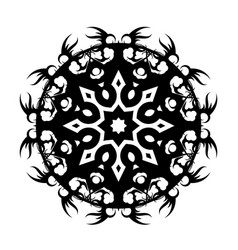 Black tribal tattoo 0002 vector