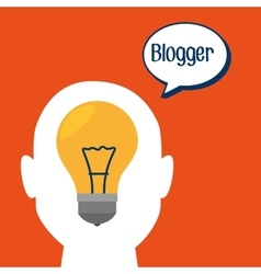 Blogger web internet icon vector