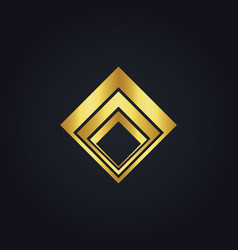 Business finance square gold logo vector