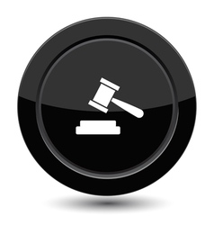 Button with court sign vector image