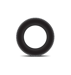 car tire with shadow vector image