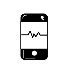Contour technology smartphone with cardiac rhythm vector