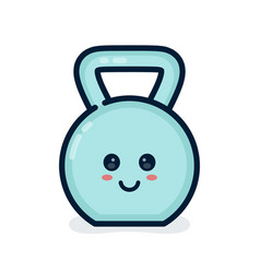 cute happy smiling dumbbell vector image