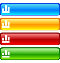 Diagram buttons vector image