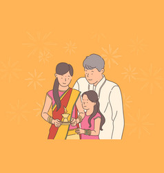 diwali or deepawali festival concept vector image