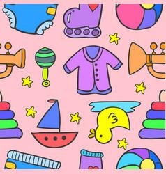 doodle of element baby stock art vector image