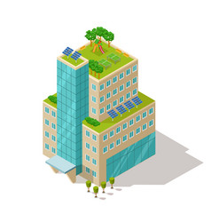 ecological concept apartment or hotel building vector image