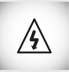 electrical shock hazard on white background vector image