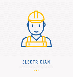 Electrician thin line icon vector