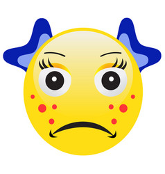 emoticon with acne squeezing a pimple vector image