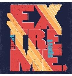Extreme sport Typography label vector