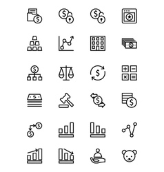 Finance Line Icons 2 vector image