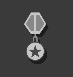 Flat icon design collection military medal in vector