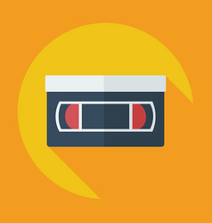 Flat modern design with shadow icon vhs tape vector