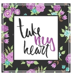 floral card with phrase vector image