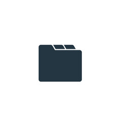folder icon simple element for web vector image