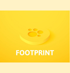 footprint isometric icon isolated on color vector image