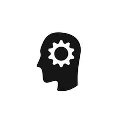 gear head repair tool repair icon vector image