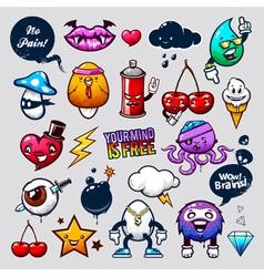 Graffiti Bizarre Characters vector