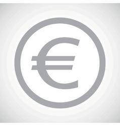 Grey euro sign icon vector image