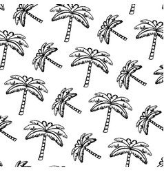 grunge tropical palm nature tree background vector image