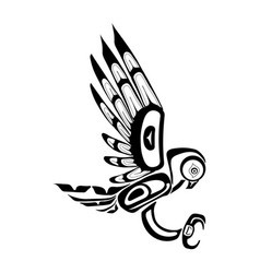haida owl tattoo vector image