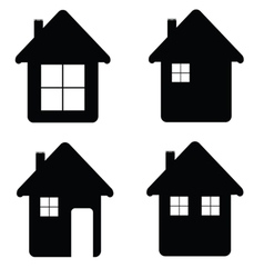 House icon in black color vector